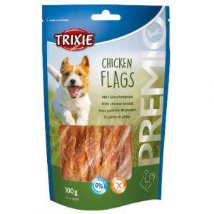 Trixie Premio Hunde Snack Godbidder med Kyllingefilet - Flags - 100g - Sukkerfrie - Glutenfrie - 65% Kød