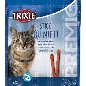 Trixie Premio Katte Snack Godbidder Stænger - Med Laks og Forel - 5x4g - Sukkerfrie