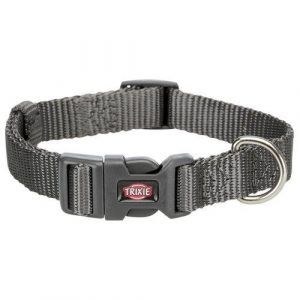 Trixie Premium Hundehalsbånd i Nylon - Granit Grå - Flere Størrelser