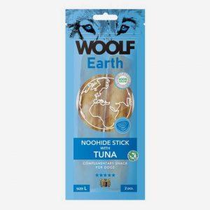 Woolf Earth NooHide Sticks - Naturlige Tyggeben med Tun - Large - 2 stk.