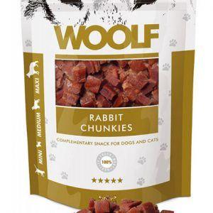 Woolf Hunde Snack Godbidder - Med Kanin Chunkies - 100g - 91% Kød