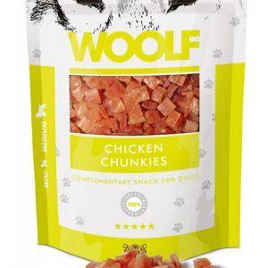 Woolf Hunde Snack Godbidder - Med Kylling Chunkies - 100g - 96% Kød