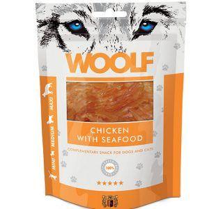Woolf Hunde Snack Godbidder Med - Kylling & Skaldyr - 100g - 92% Kød