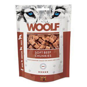 Woolf Hunde Snack Godbidder - Med Okse Chunkies - 100g - 85% Kød