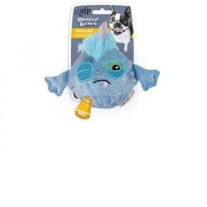 """afp Monster Hundelegetøjs Bold - Blå - 12x16x8,3cm - """"Monster Bunch"""""""