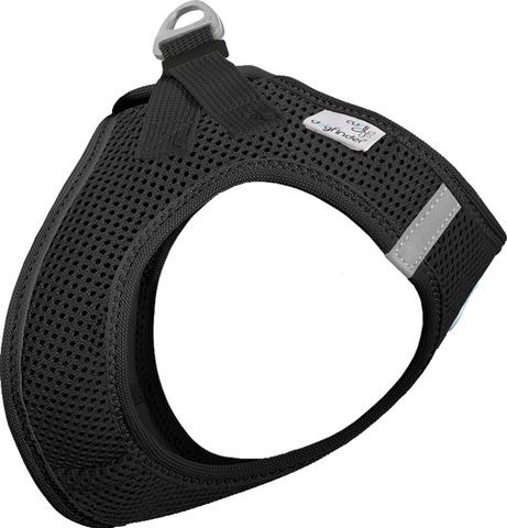 Curli Vest sele Air-mesh Sort 2XS Brystmål 28-32cm