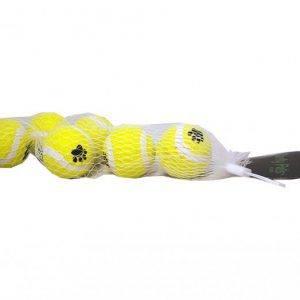 Hundelegetøjs Tennisbolde - Uden Slibemiddel - 4,5cm - 6-pack - - - - -