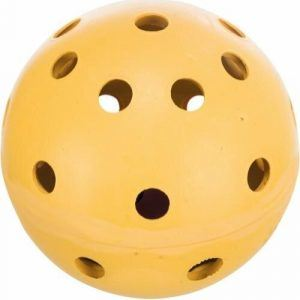 Trixie Holey Hundelegetøjs Naturgummi Bold - Med Klokke - Ø7cm