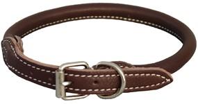 Walker rundsyet læderhalsbånd, Brun 35 cm
