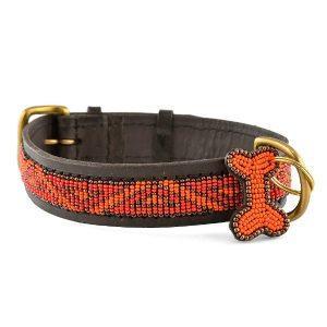 Zinj Kabaka Neon // Håndlavet hundehalsbånd med perler - Zinj Kabaka Neon // Håndlavet hundehalsbånd med perler