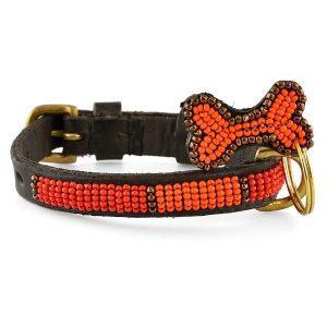 Zinj Kabaka Neon Mikro // Håndlavet hundehalsbånd med perler (20-27 cm)